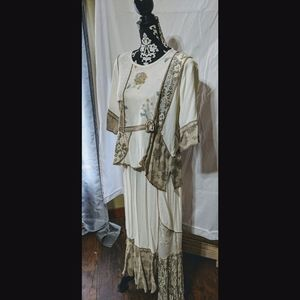VTG Spencer Alexis 2 Piece Skirt Set Boho …